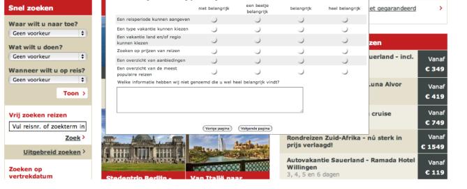 Online questionnaire - self-consistency