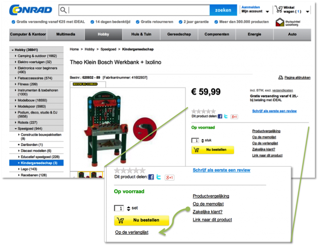 Dutch Conrad.nl webshop