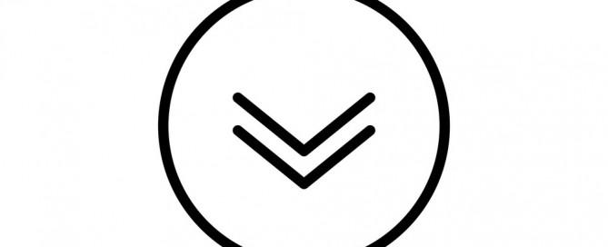 Visual cueing - arrow down